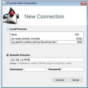 jconsole connection