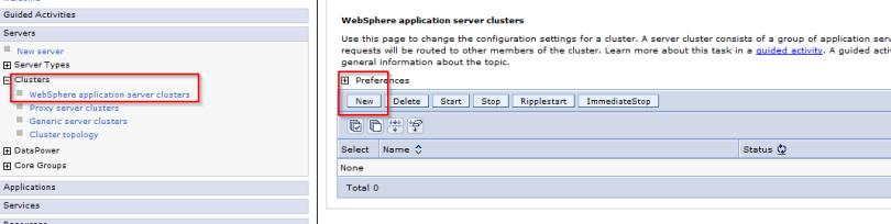 Clustering in WebSphere